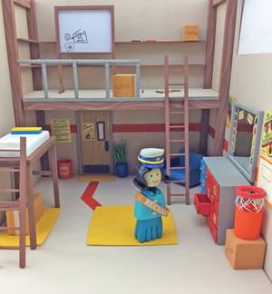 Rec Room Old Dorm Room Diorama
