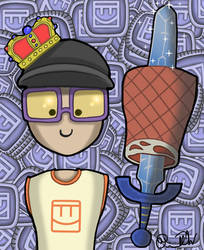Gribbly, King of Rec Room by PriscillaW