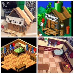 Mario RPG Pipehouse by PriscillaW