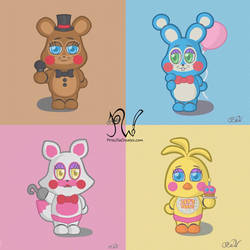 Chibi Toy Animatronics Collage by PriscillaW