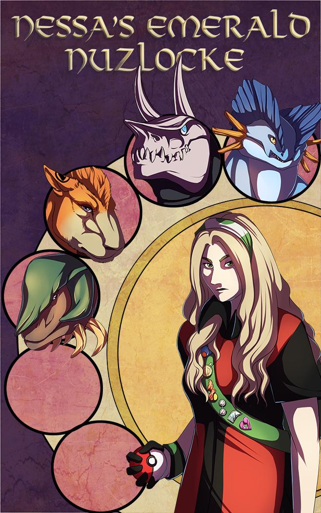 Emerald Nuzlocke Cover by ShadeofShinon