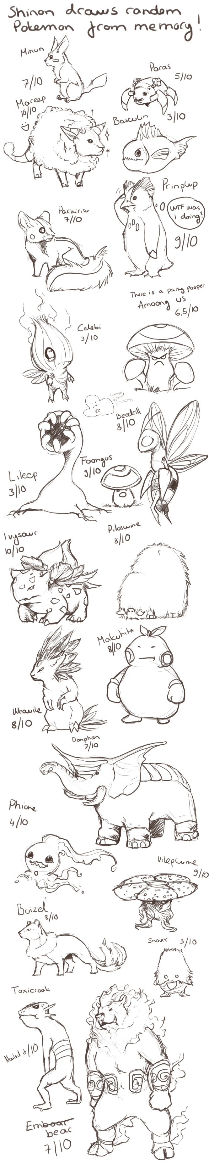 Draw Pokemon From Memory by ShadeofShinon