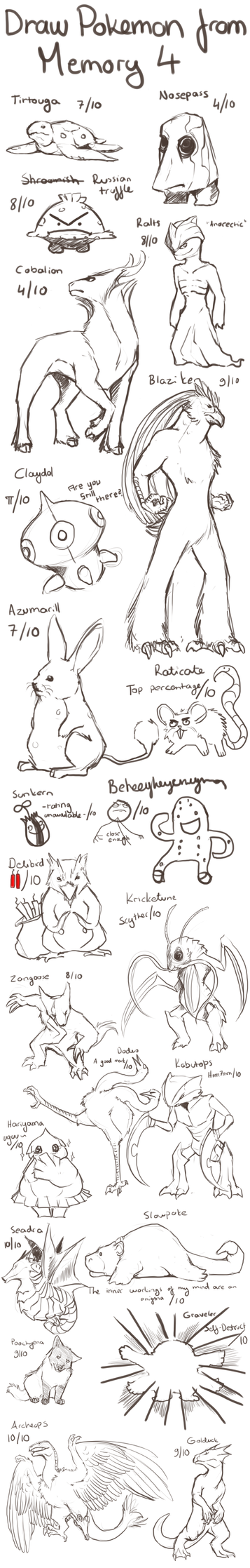 Draw Pokemon From Memory 4 by ShadeofShinon