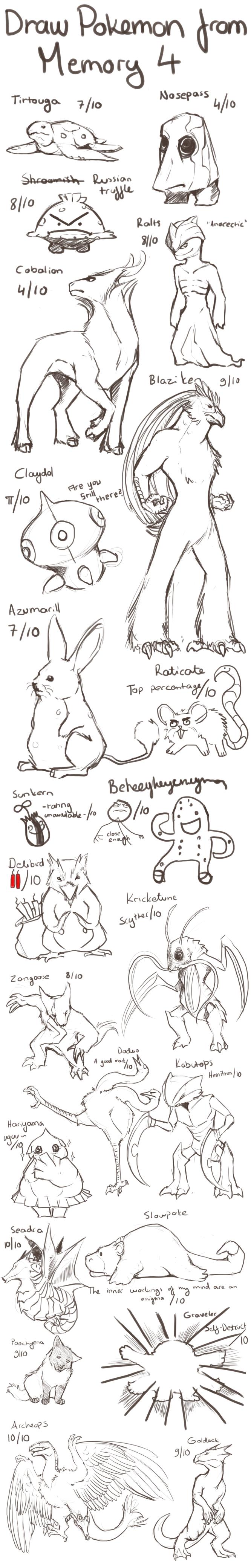 Draw Pokemon From Memory 4 by ShadeofShinon