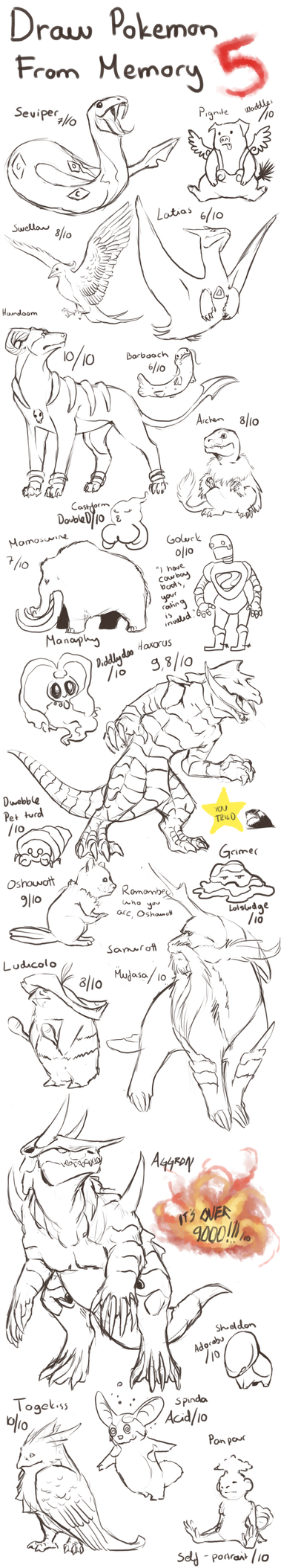 Draw Pokemon From Memory 5 by ShadeofShinon on DeviantArt