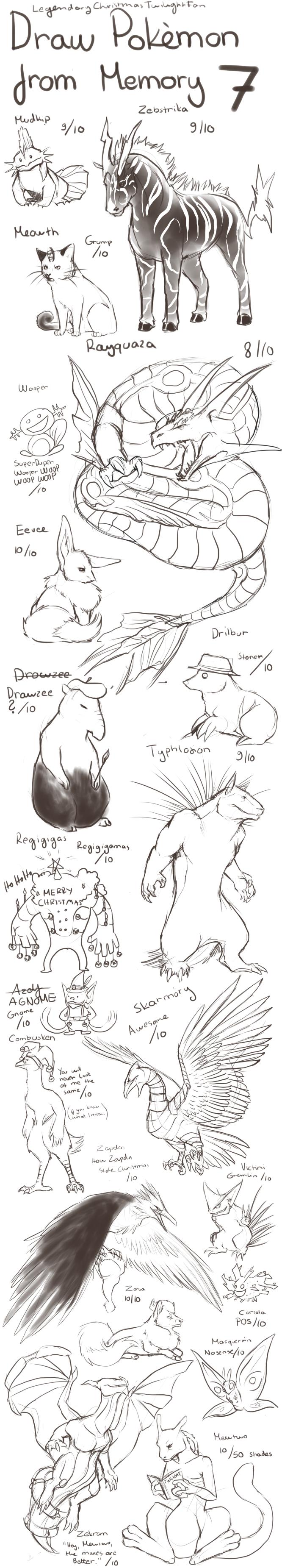 Draw Pokemon From Memory 7 by ShadeofShinon