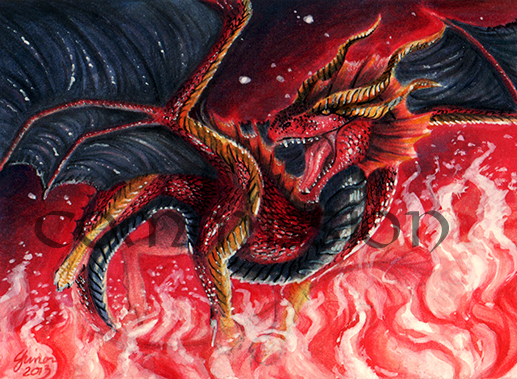 ACEO Commission: Hellfyre by ShadeofShinon