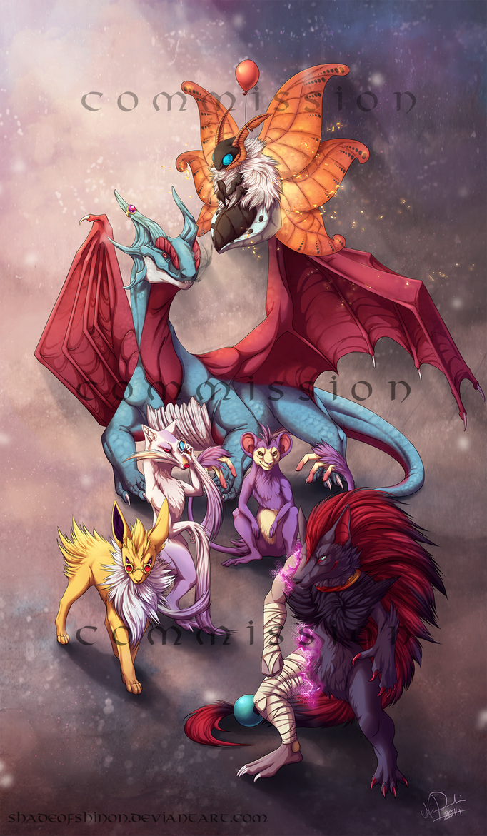 Commission: Skudde's team by ShadeofShinon
