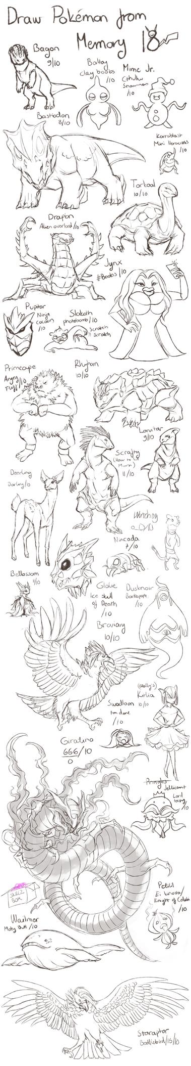Draw Pokemon from Memory 18 by ShadeofShinon