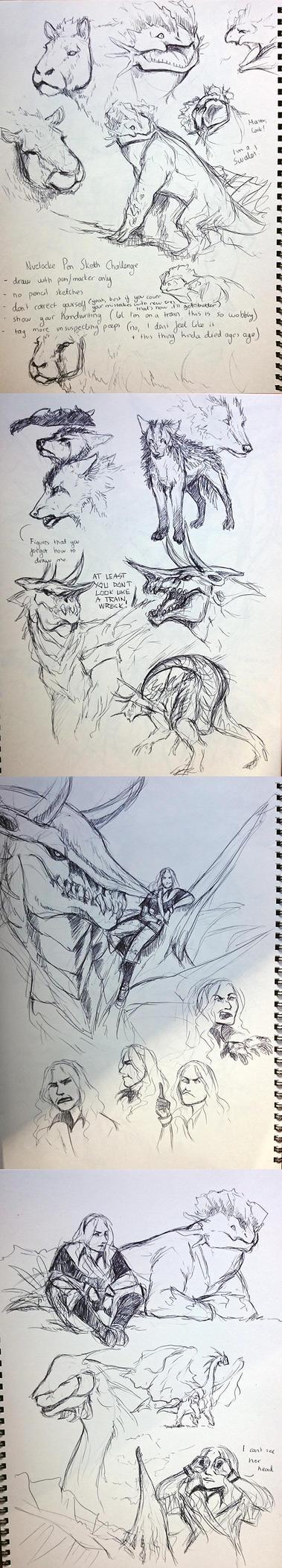 Nuzlocke Pen Sketch Meme by ShadeofShinon