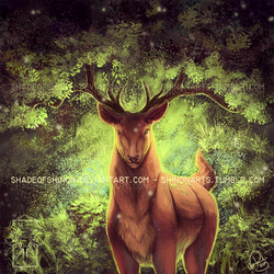 Pokemon Community Collaboration: Sawsbuck + GIF by ShadeofShinon