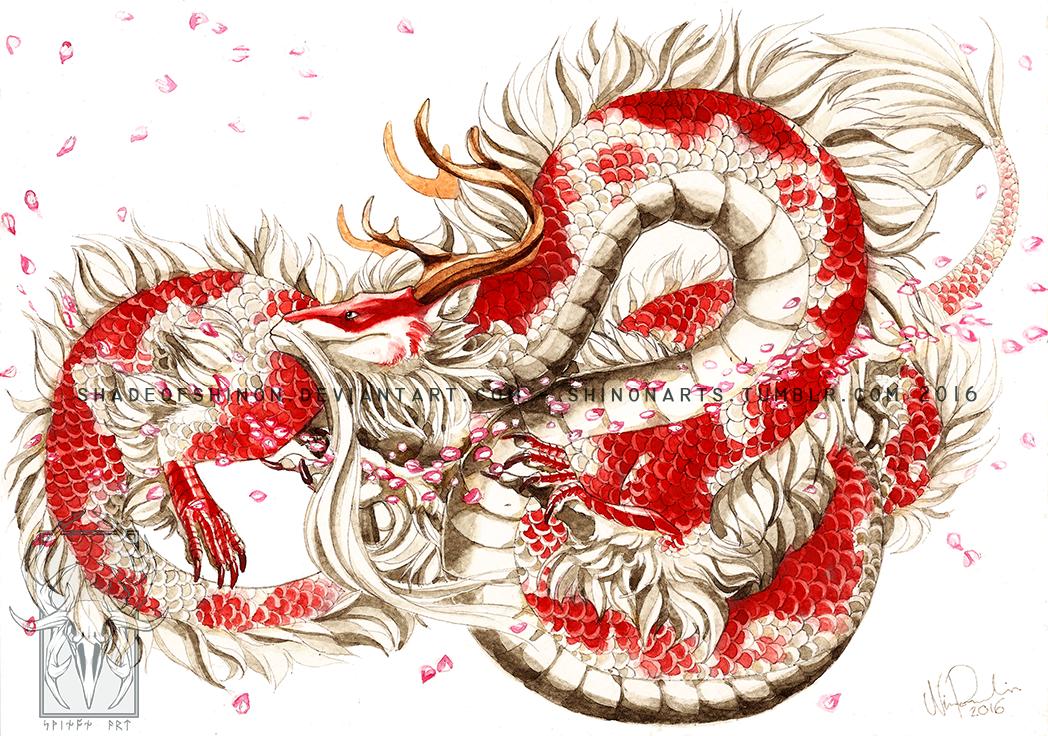 Koi dragon by shadeofshinon on deviantart for Japanese koi dragon