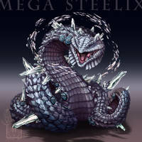 Type Collab: Mega Steelix by ShadeofShinon