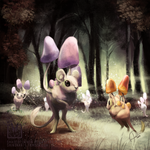 Pokemon Community Collab: Morelull [SPEEDPAINT]