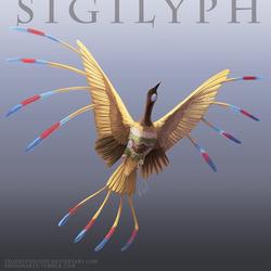 Pokemon Reimagined: Sigilyph by ShadeofShinon