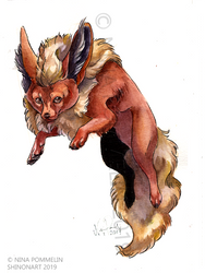 Pokeddex Your Choice DAY 19 - Flareon by ShadeofShinon