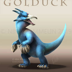 Gen Collab: Golduck by ShadeofShinon