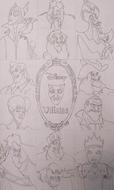Disney Villains by RuneDragonc