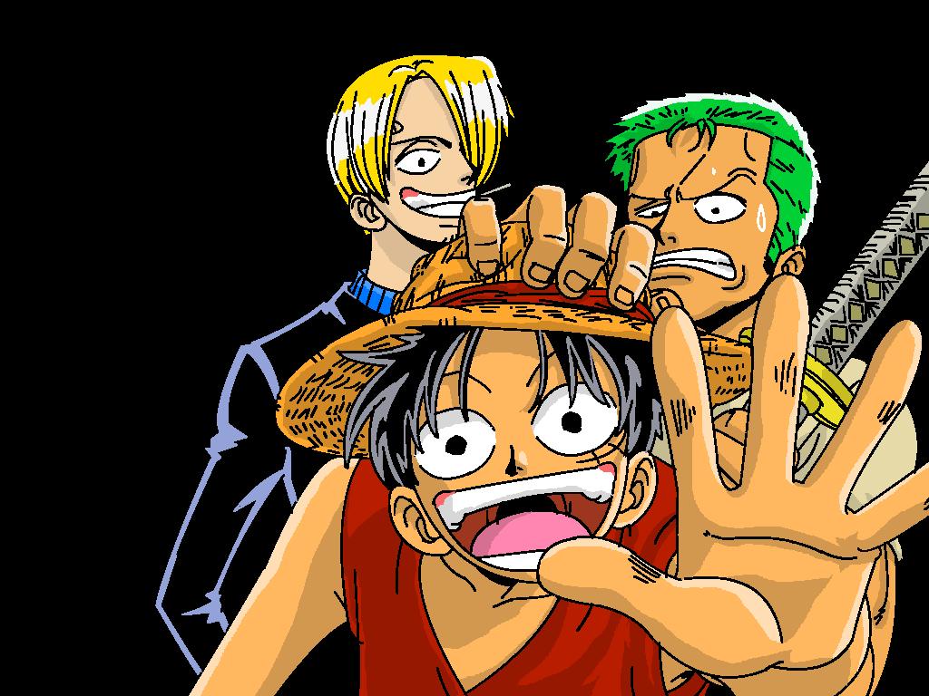 Zoro Sanji Luffy by Ka...