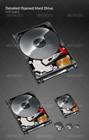 Detailed Opened Hard Drive by ConstantinPotorac