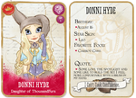 Donni Hyde: Card