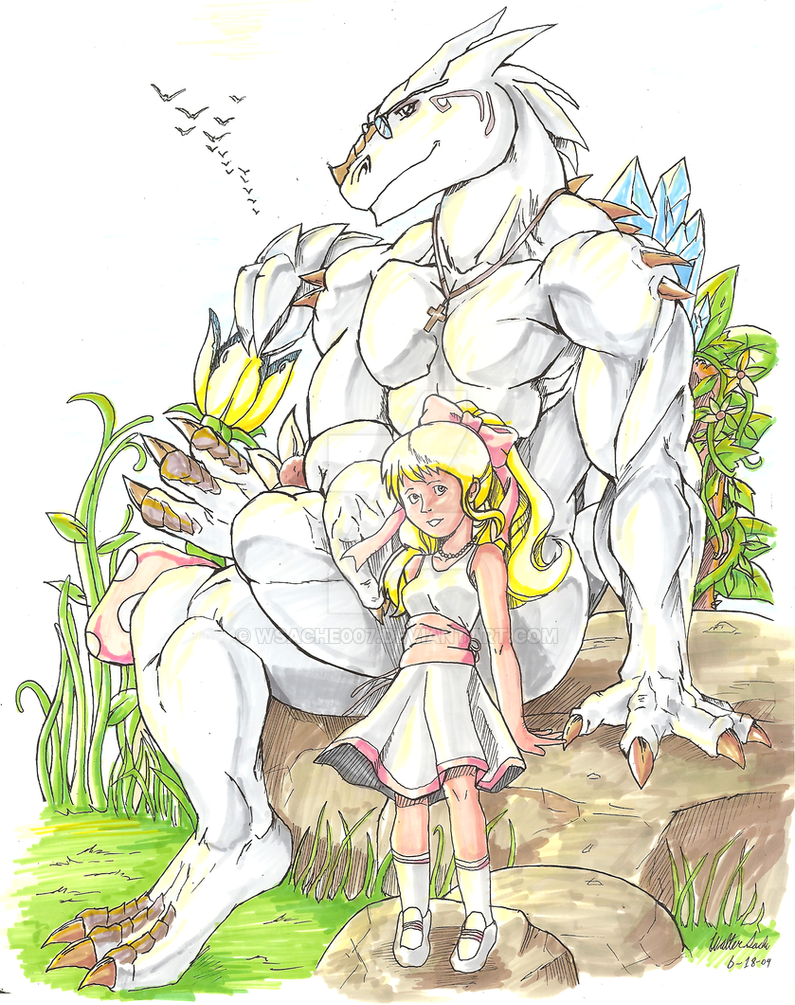 Grygon and 8yr old Kemra by wsache007