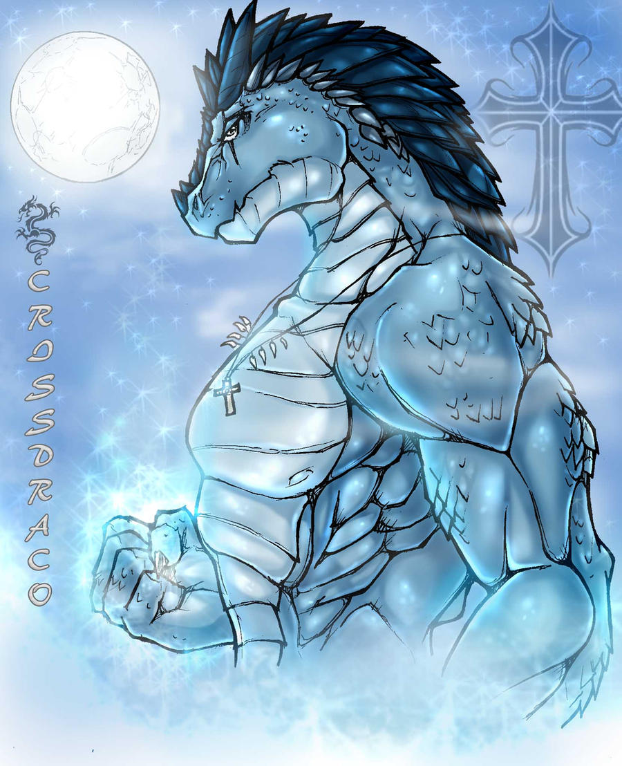 Ice Dragon coloured by wsache007
