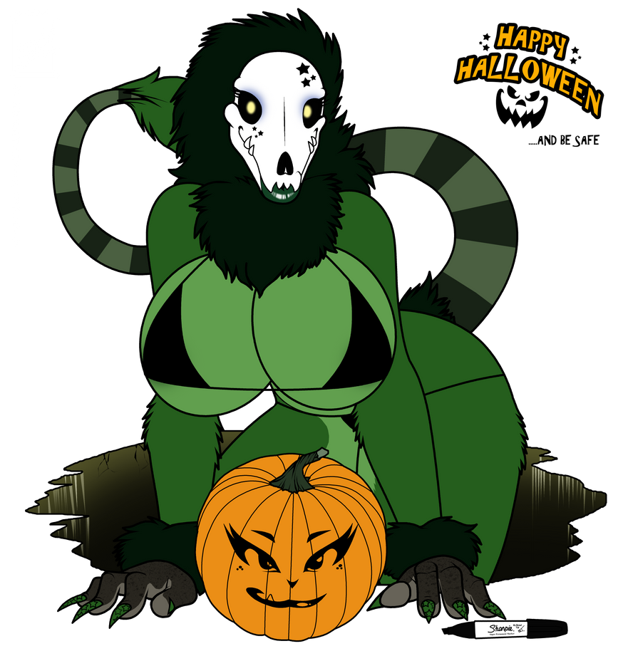2012 Happy Halloween skul girl by wsache007