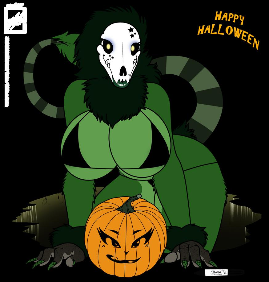 2012 Happy Halloween skul girl by wsache007