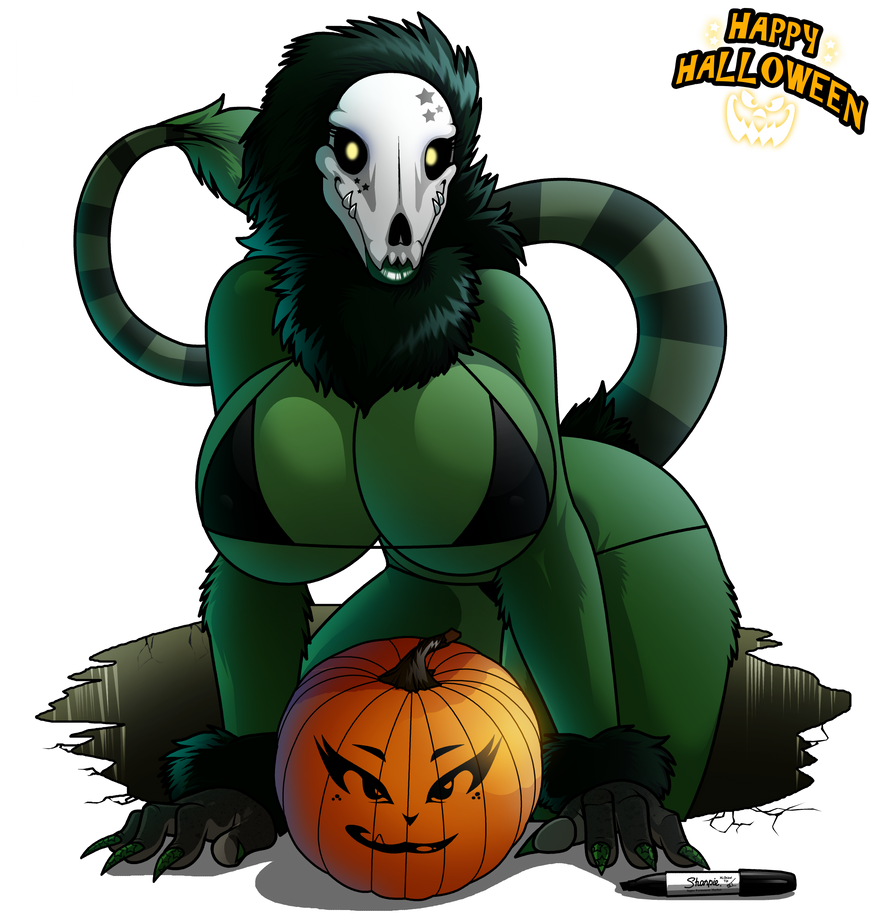 2012 Happy Halloween skul girl complete by wsache007
