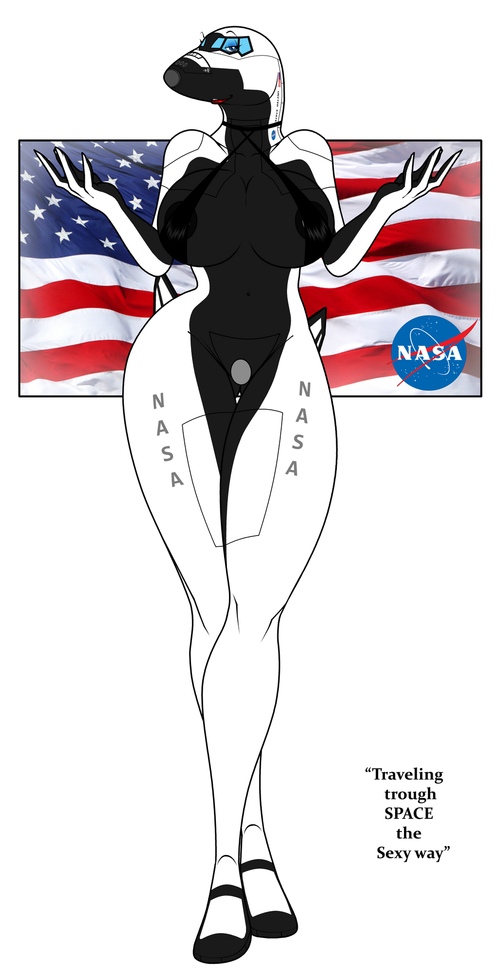Space shuttle babe by wsache007