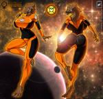 Larfliana Female Agent Orange Lantern complete