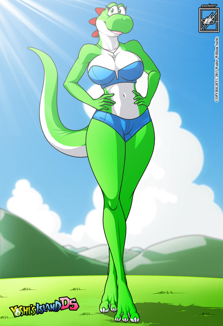 Female Yoshi gal_completed X3 by wsache007