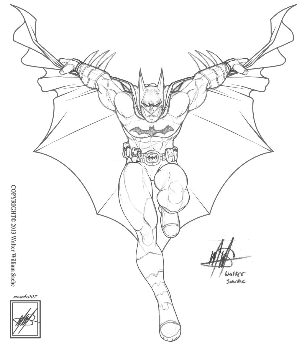 The Batman_sketch For My Uncles Birthday_n Progres By Wsache007 On DeviantArt
