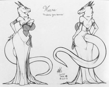Mah Lady Meera wearing her Ballroom dress_wip