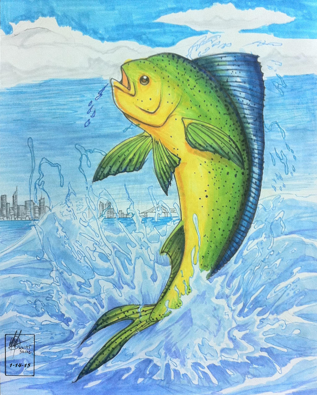 Mahi Mahi Fish_Close up View :3 by wsache007 on DeviantArt