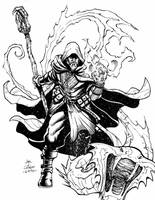 Card Game: Char_Design_Fire Dragon Warlock by geniuspen