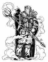 Card Game: Char_Design_Elf Warlock by geniuspen