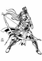 Card Game: Char_Design_Elf Female Archer by geniuspen