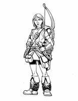Card Game: Char_Design_Female Teen Archer by geniuspen