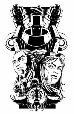 Delilah Blast T-Shirt Print for Kickstarter