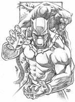 Black Panther Fanart by geniuspen