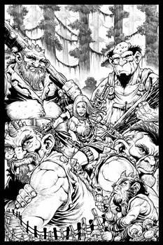 Fantasy Cover Art_Sorceress and Trolls...