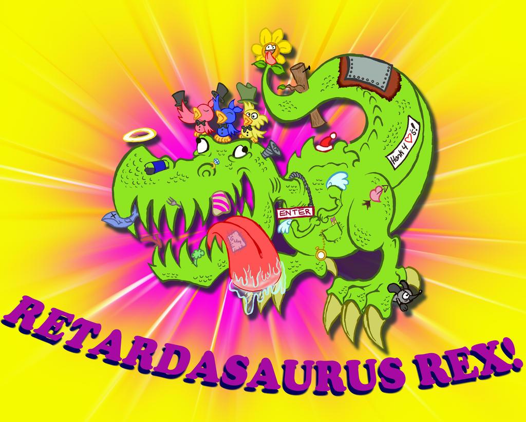 Retardasaurus Rex by BlueBandanaJake