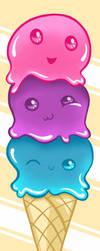B-ice Cream Cone by usagifinley