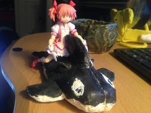 Madoka's new inflatable whale.