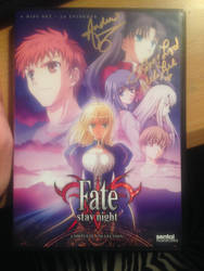 Fate Stay night DVD signed by Mela Lee and Yuu Asa