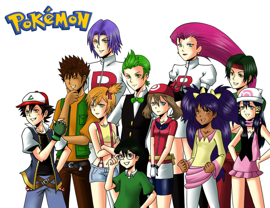Anime Characters As Pokemon : Pokemon trainers with human closed on poke lovers