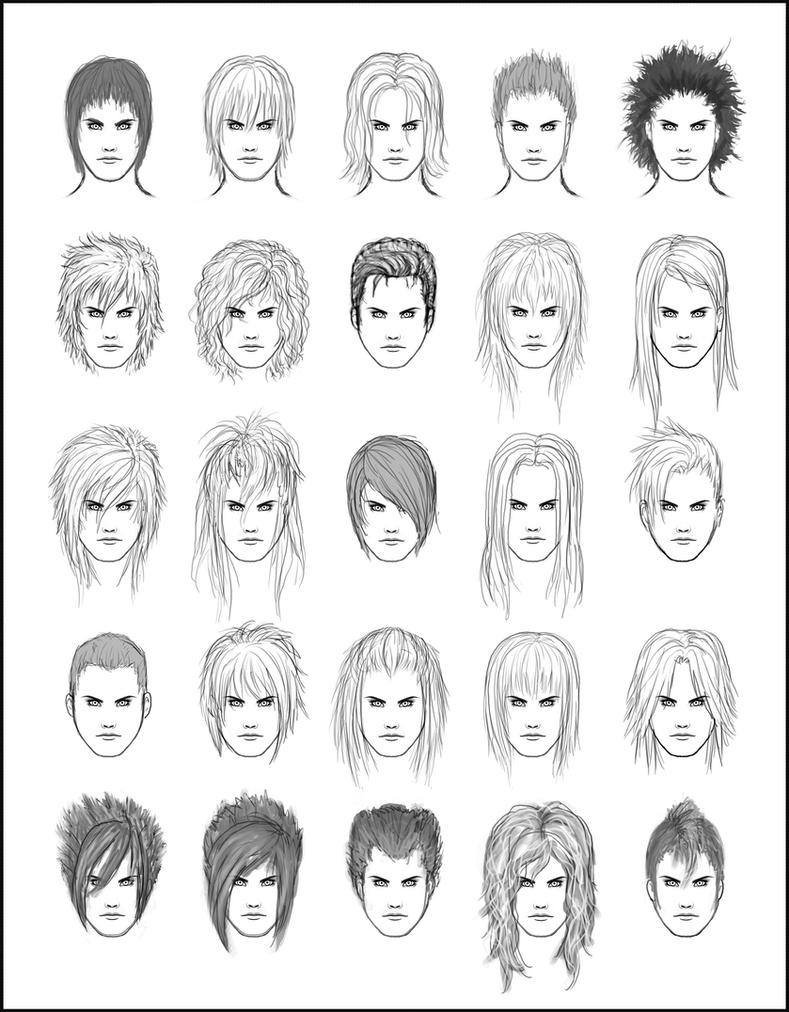 Mens Hair Set By Darksheikah On DeviantArt - Hairstyle boy drawing