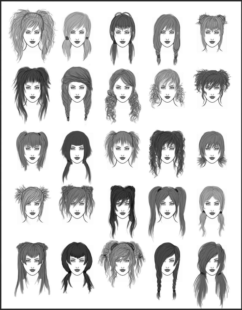 hair style drawing s hair set 1 by sheikah on deviantart 4486